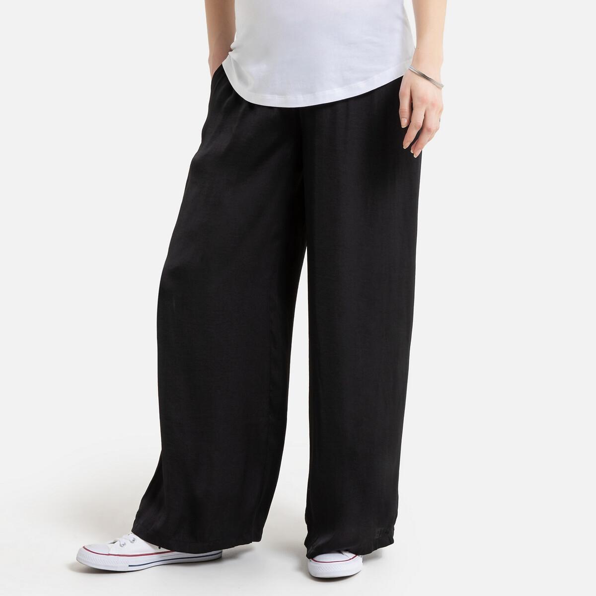 Брюки LaRedoute Широкие для периода беременности 36 (FR) - 42 (RUS) черный брюки laredoute для периода беременности из велюра velvet 42 fr 48 rus бежевый