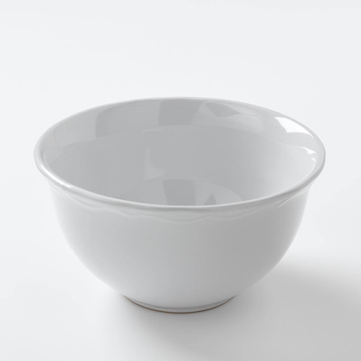 Комплект из 4 чашек из фаянса с отделкой фестоном, AJILA ваза из фаянса catalpa