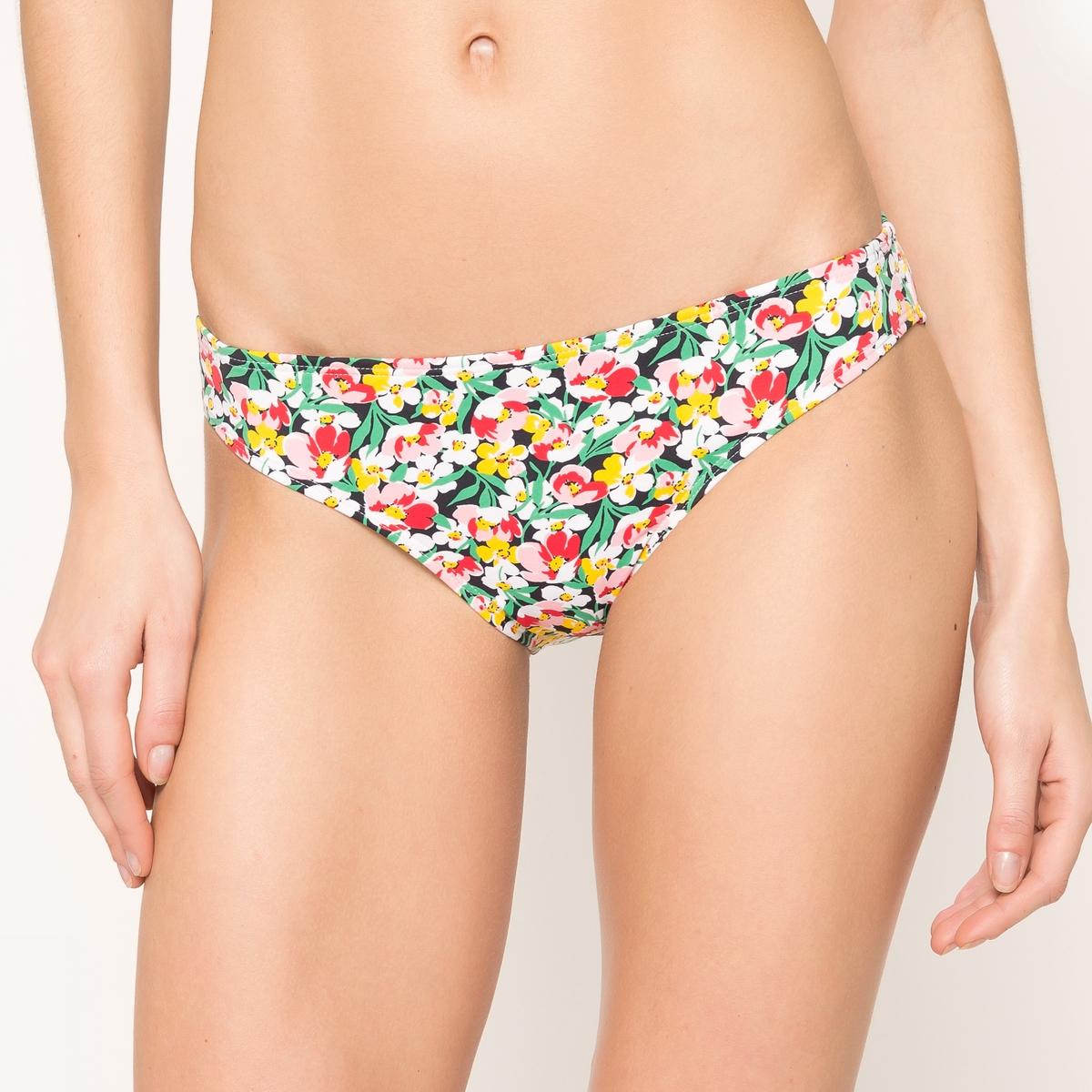 Трусы-плавки от купальника классической формы с цветочным рисунком