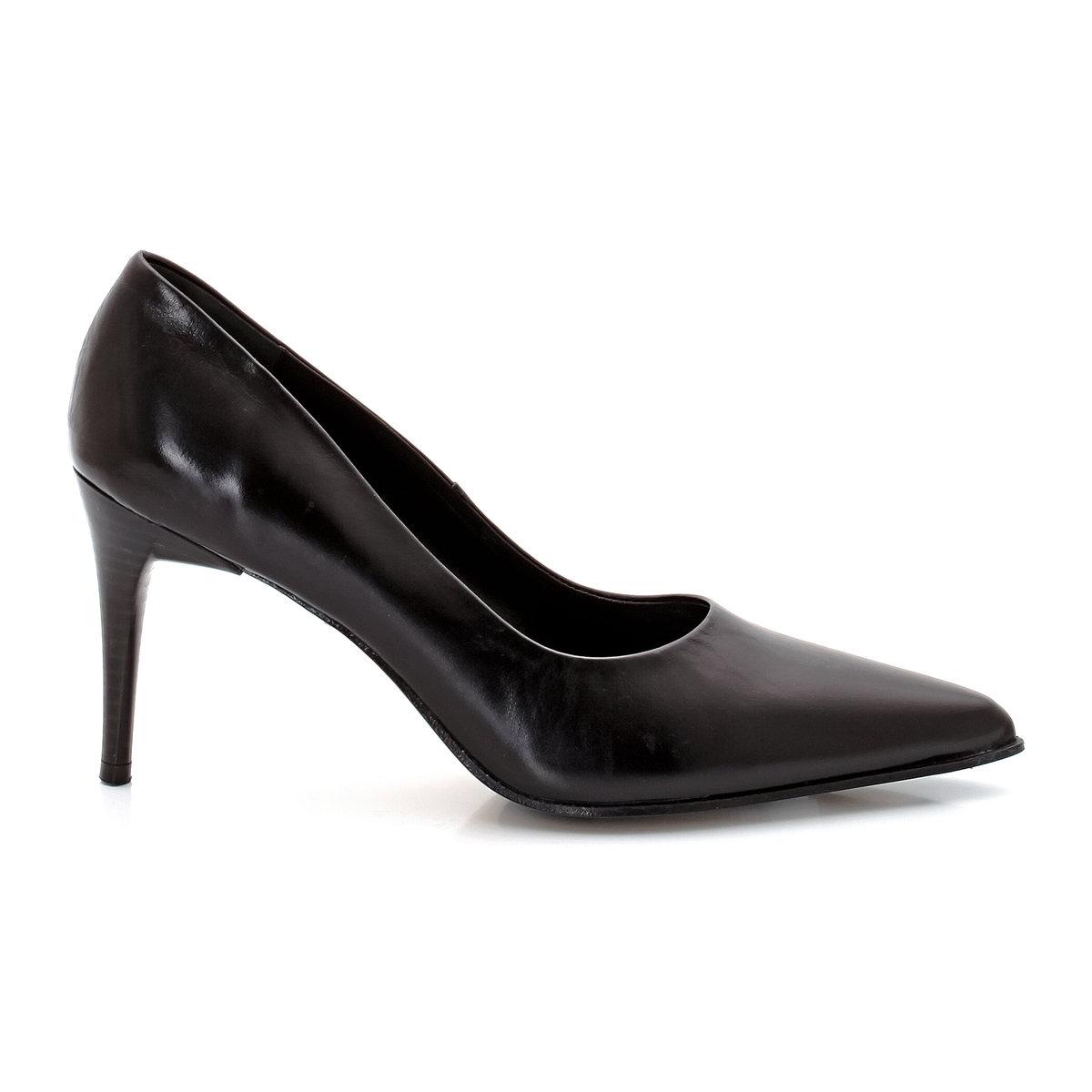 Туфли из замши LESTON dELIZABETH STUARTТуфли, модель LESTON от ELIZABETH STUARTВНИМАНИЕ Верх: замша.Подкладка: кожа. Подошва: кожа. Высота каблука: 8,5 см.<br><br>Цвет: черный<br>Размер: 38