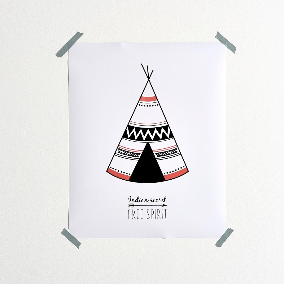 Постер Tipi, POWATANОписание постера Powatan :Изображение вигвама, традиционного жилья северо-американских племен... Характеристики постера Powatan:Принт на бумаге, 170г/м?.Размеры постера Powatan:Ширина : 40 смВысота : 50 см<br><br>Цвет: разноцветный