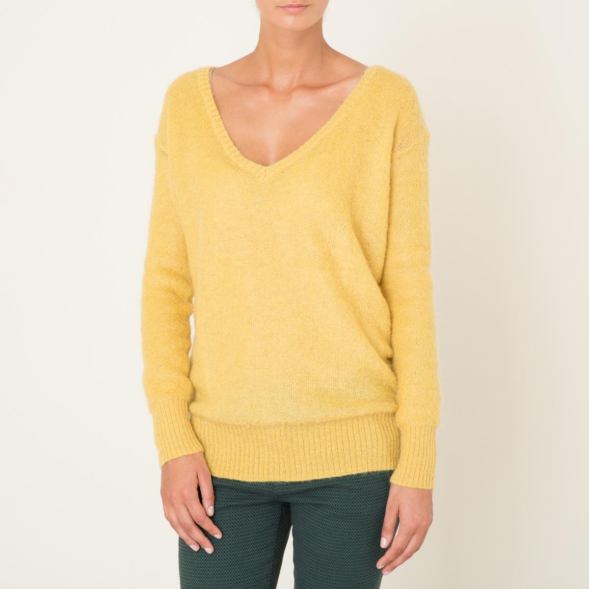 Пуловер THEONAСостав и описание Материал : 40% полиамида, 30% шерсти кид мохер, 30% шерстиМарка : HARRIS WILSON<br><br>Цвет: желтый