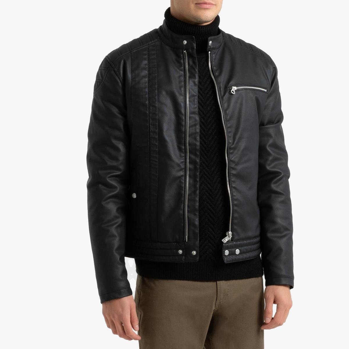 Блузон La Redoute В байкерском стиле Pu Mell XL черный блузон la redoute в байкерском стиле ozone s черный
