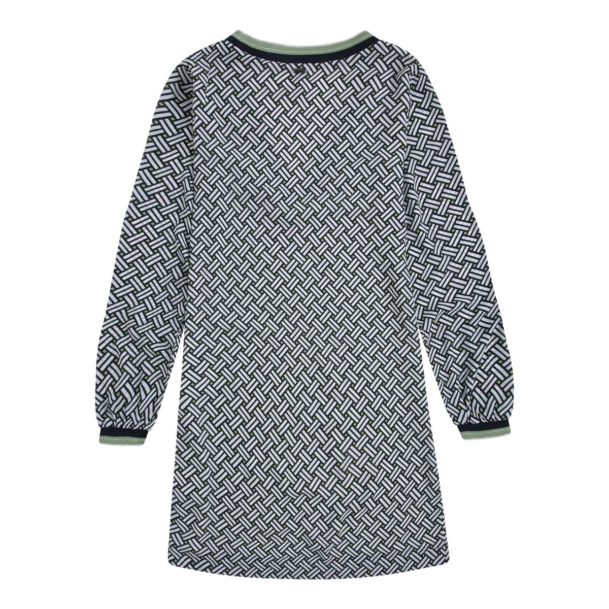 Imagen secundaria de producto de Vestido con cuello de pico estampado gráfico, con - Pepe Jeans