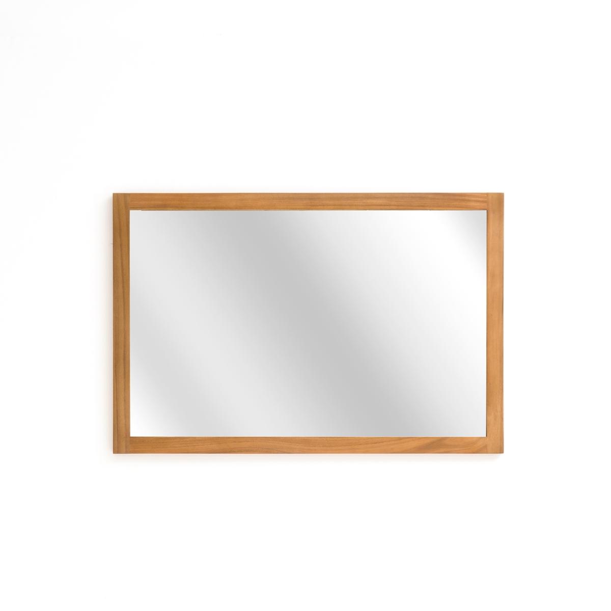 Зеркало La Redoute Прямоугольное для ванной комнаты см единый размер бежевый