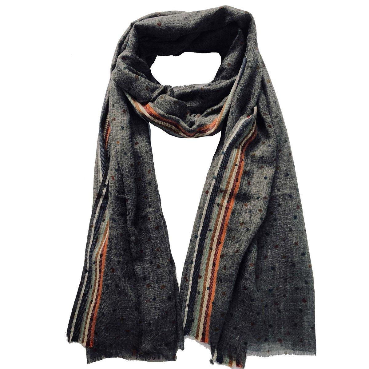 Écharpe douce laine pois polissons