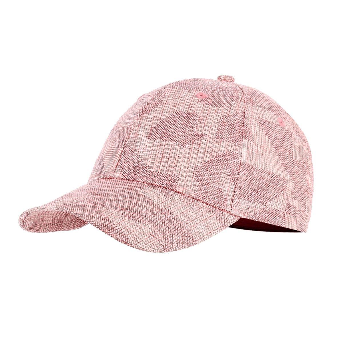Casquette en coton et lin rose