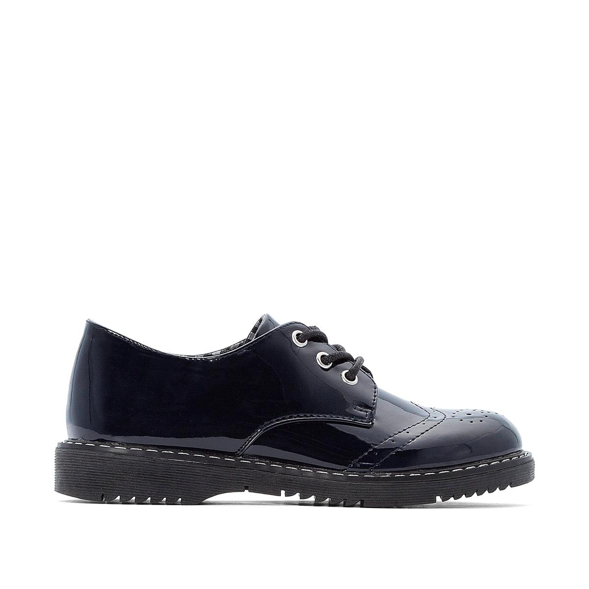 цена Ботинки-дерби La Redoute На шнуровке - 26 синий онлайн в 2017 году