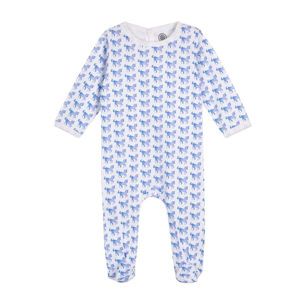 Pyjama bébé en coton bio - Imprimé Cheval