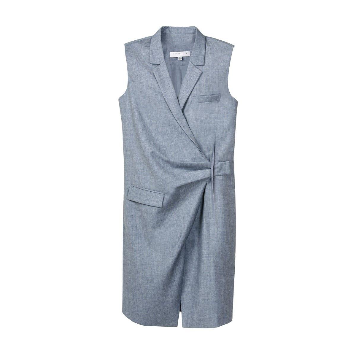 Veste pour femme Sans Manche laine mélangée se porte comme une robe ou un gilet