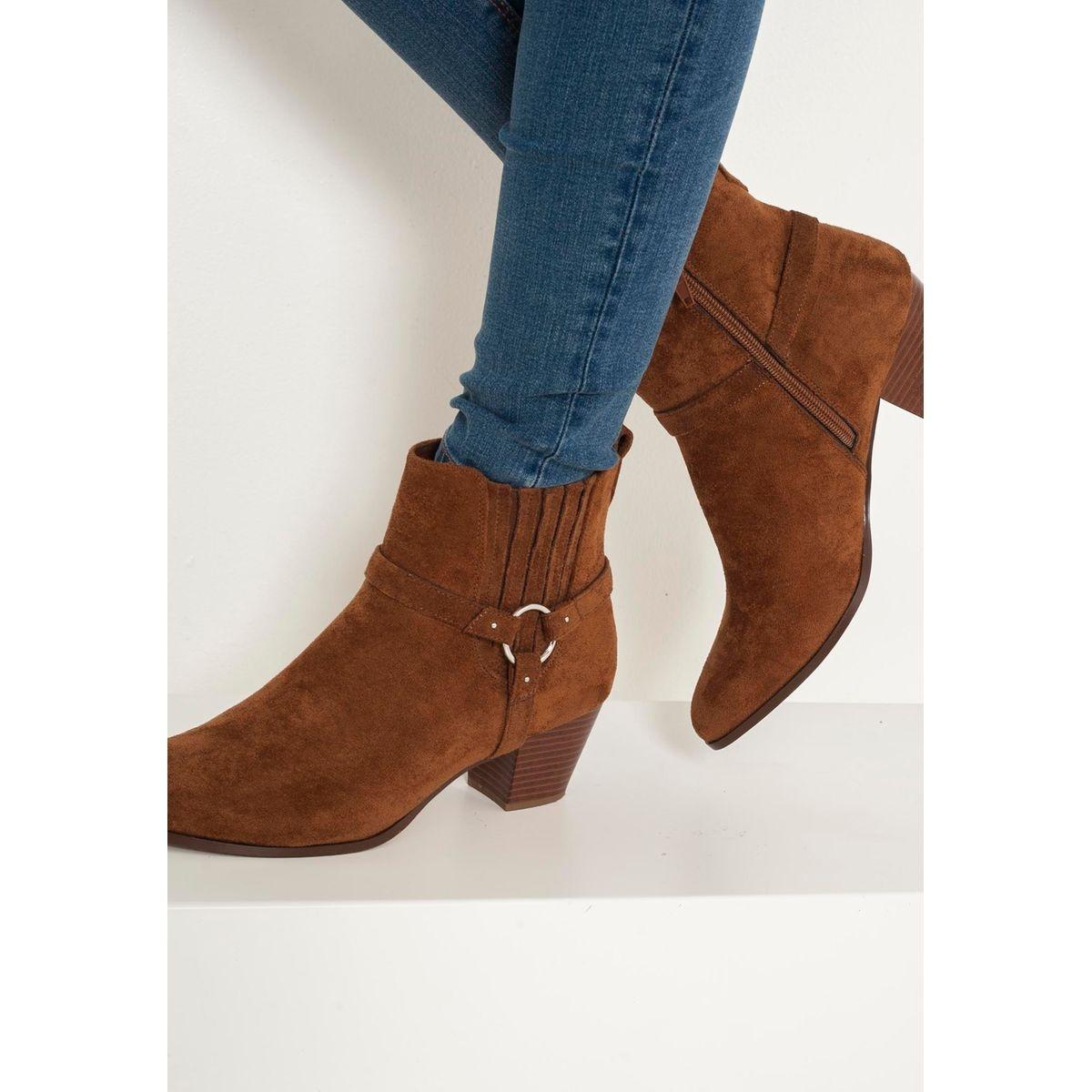 Boots suédine