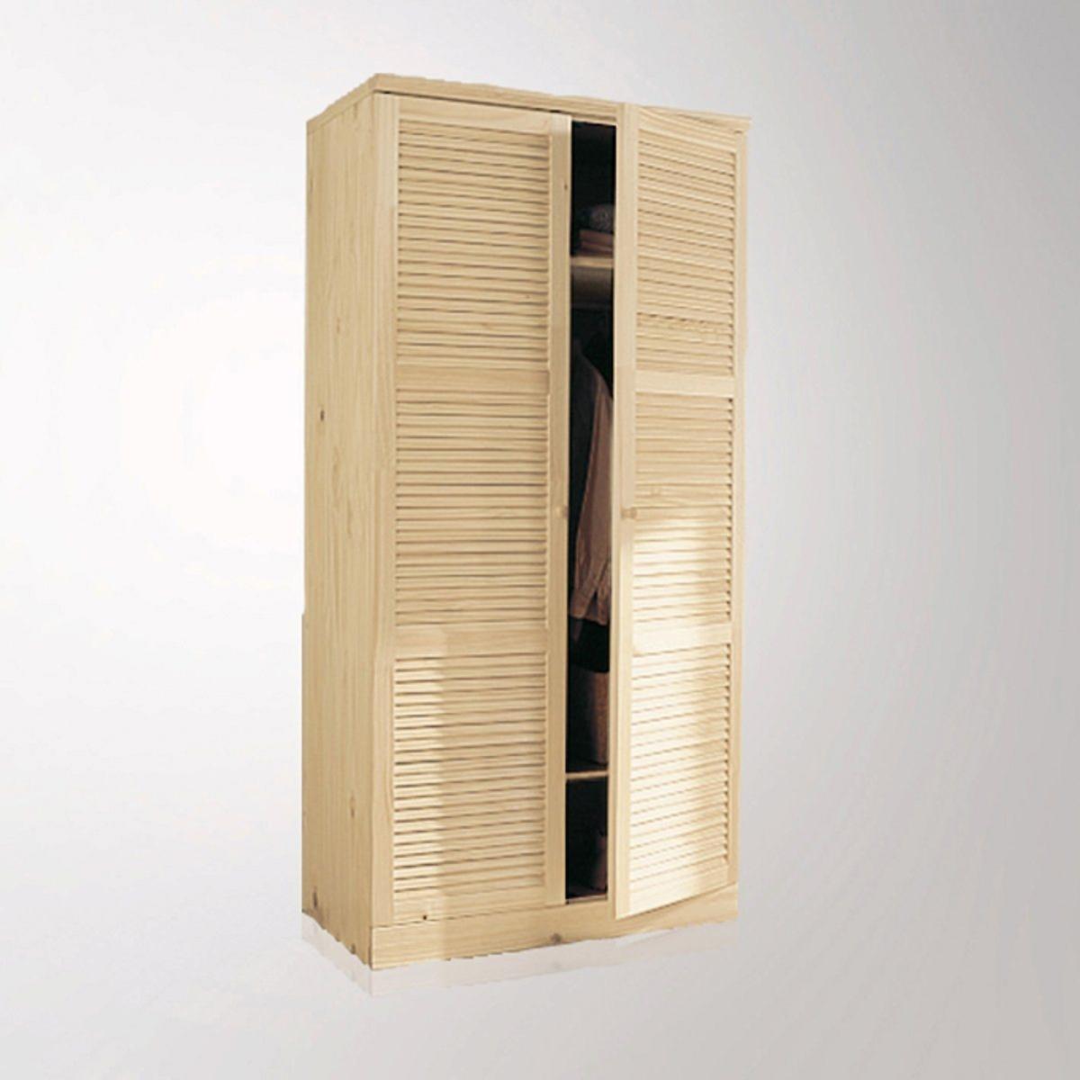 Шкаф LaRedoute Из массива сосны В205 см с вешалкой Mayor единый размер бежевый