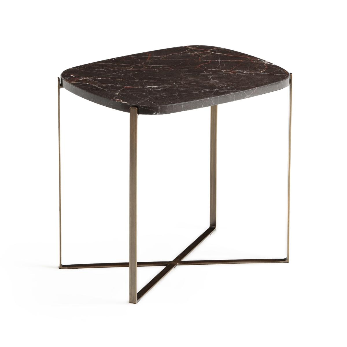 Столик La Redoute Диванный органической формы из мрамора Arambol единый размер каштановый столик журнальный из мрамора овальной формы arambol