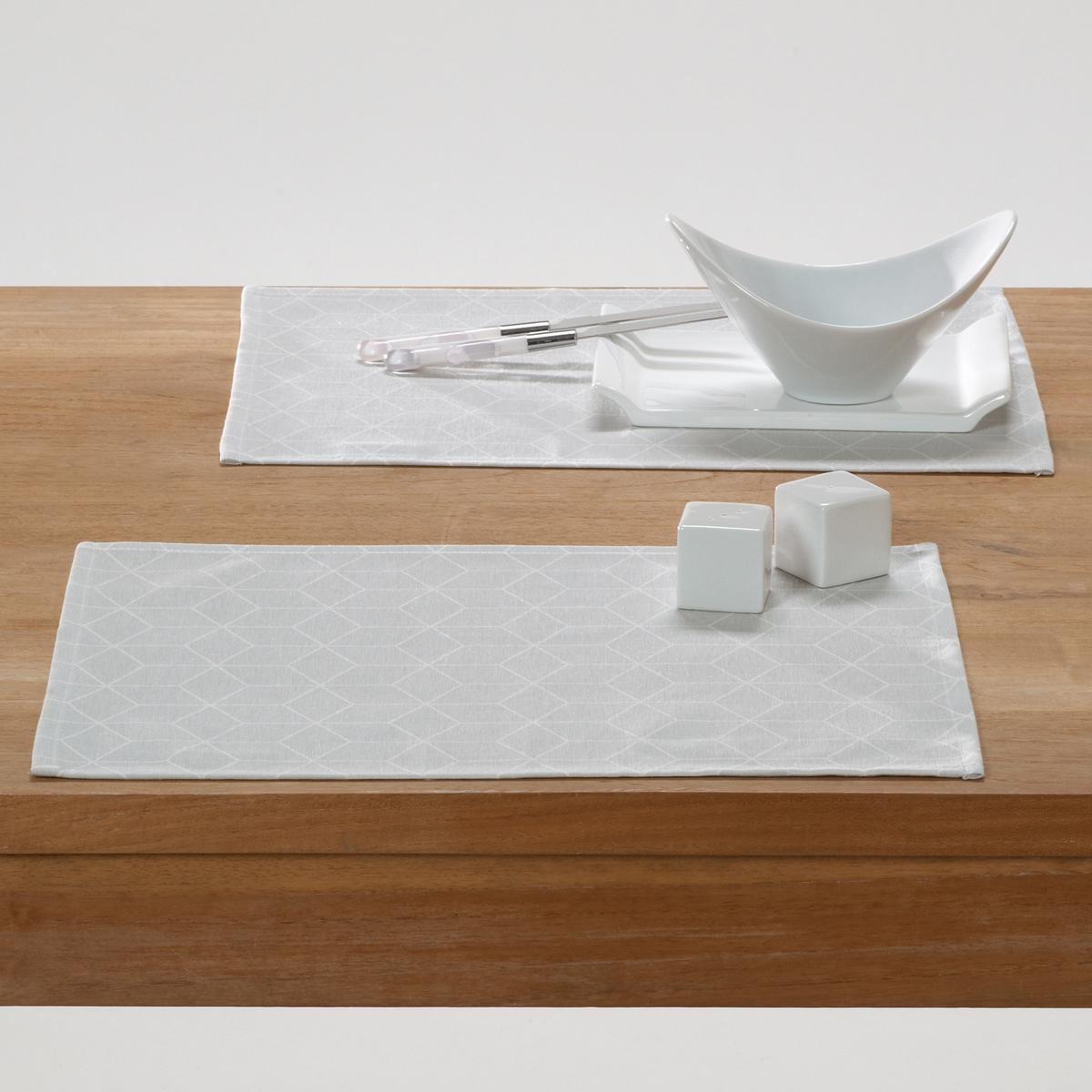 Комплект из салфеток под La Redoute Приборы DIAMOND единый размер серый цена 2017