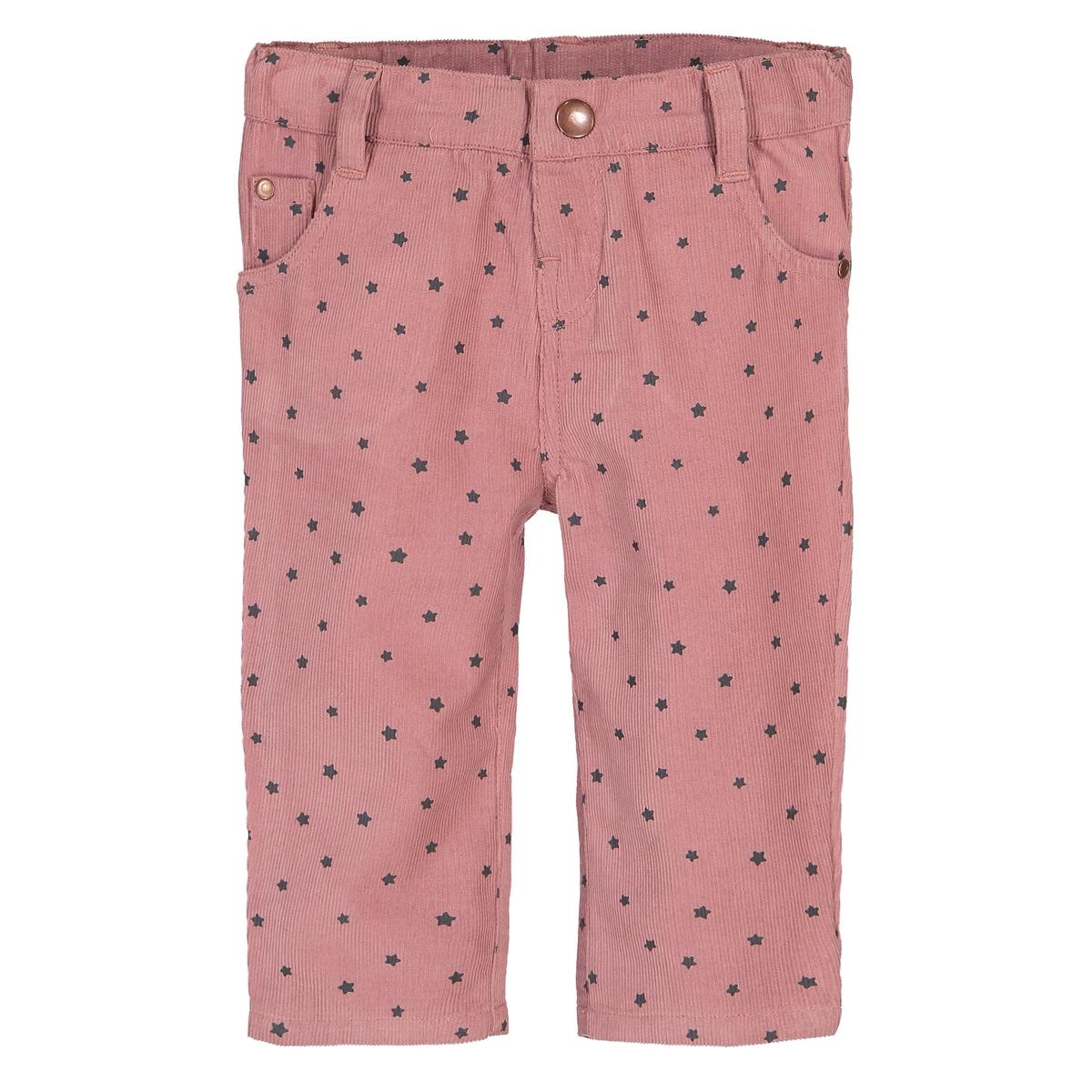 Брюки La Redoute Прямые с рисунком из велюра мес - года 9 мес. - 71 см розовый пижамы la redoute из велюра мес года 0 мес 50 см синий