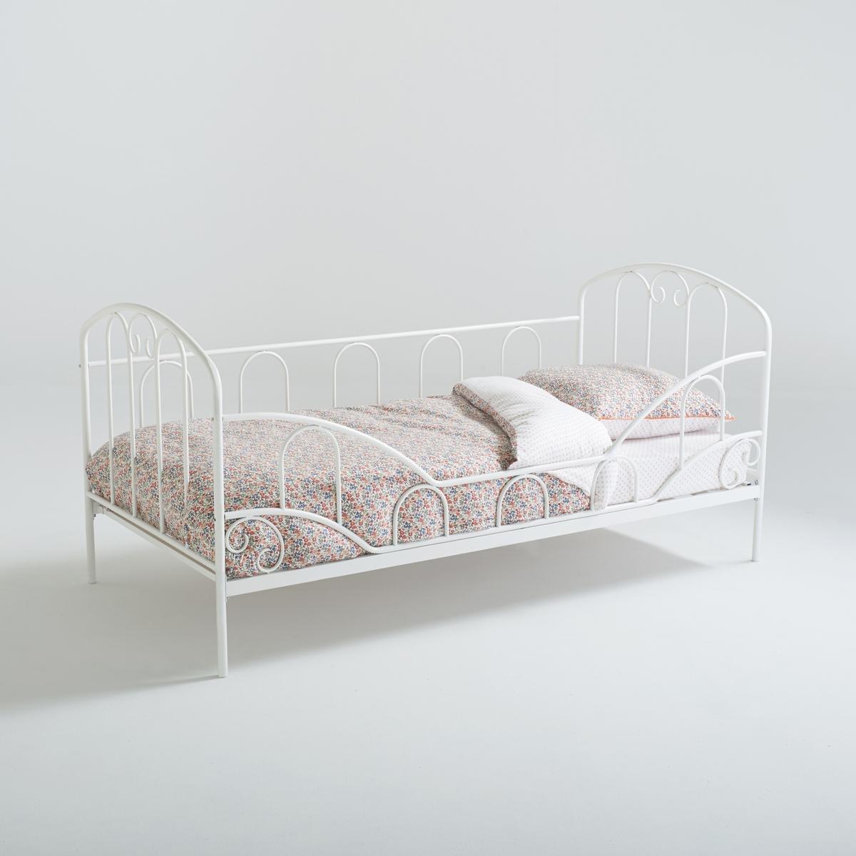 Кровать-кушетка La Redoute Из металла с основой под матрас Aela 90 x 190 см белый кровать la redoute с основой под матрас trianon 140 x 190 см белый