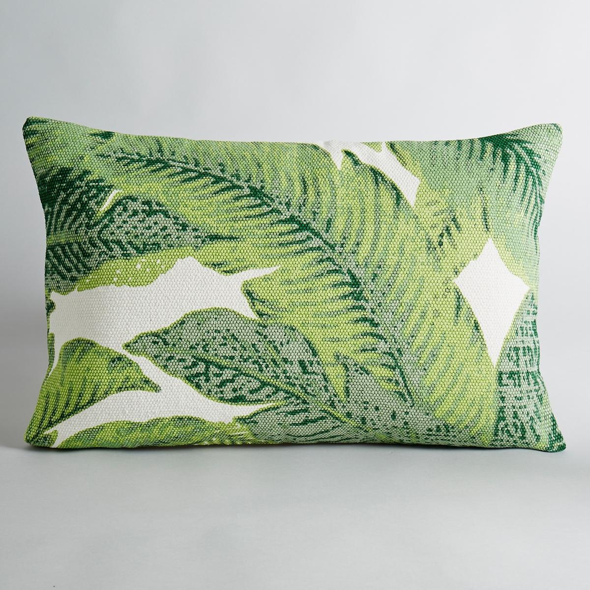 Чехол на подушку SaskiaЧехол на подушку с рисунком листья. 100 % хлопка. Застежка на молнию.Размеры:. 60 x 40 см.<br><br>Цвет: набивной рисунок