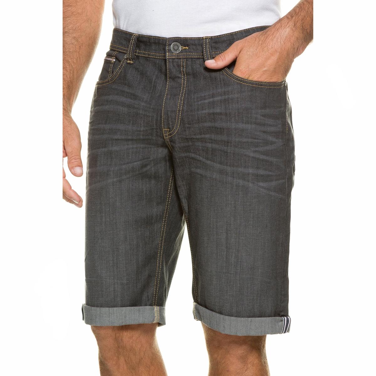 БермудыБермуды из денима стретч JP1880. Покрой с 5 карманами, пояс с фирменным знаком JP1880 на оборотной стороне. 99% хлопка, 1% эластана. Длина по внутр.шву 38-40,5 см<br><br>Цвет: серый