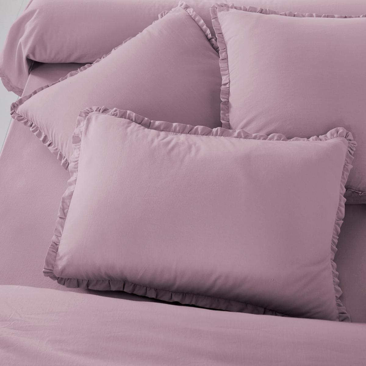 Наволочка из смешанной стиранной ткани, OndinaНаволочка однотонная из смешанной стиранной ткани Ondina в классическом и изысканном исполнении !Описание наволочки Ondina :- Смешанная ткань 55% хлопка, 45% льна, аутентичная и прочная стиранная ткань для большей мягкости и эластичности ..Машинная стирка при 60 °С.- Отделка двойным воланом, со складками.  Размеры :50 x 70 см : прямоугольный63 x 63 см : квадратный<br><br>Цвет: светло-бежевый,серо-фиалковый<br>Размер: 63 x 63  см.63 x 63  см