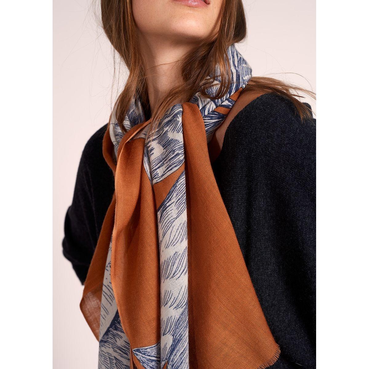 Foulard en laine imprimé