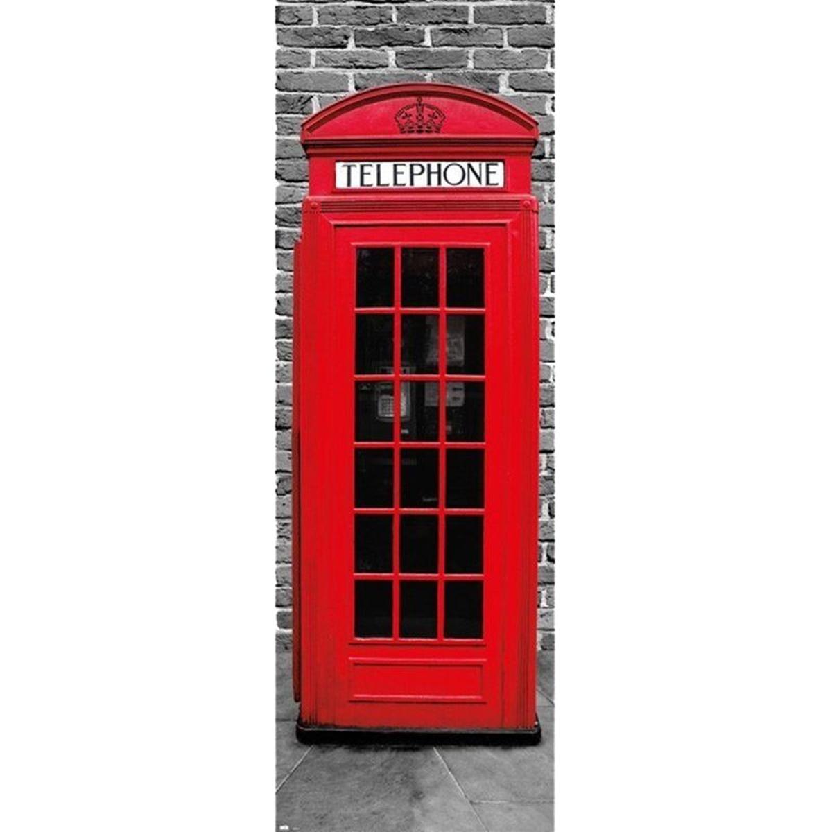 Affiche de porte Londres Phonebox