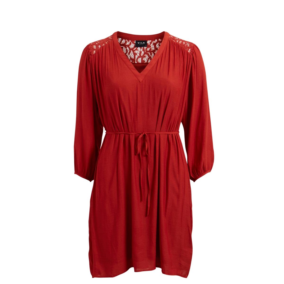 Платье VipluraСостав и описаниеМатериал : 100% полиэстерМарка : Vila.Модель : VipluraУходСледуйте инструкции по уходу на этикетке<br><br>Цвет: красный