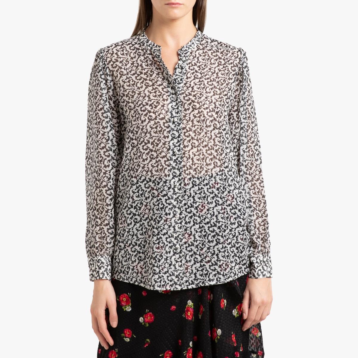 Camisa de seda estampada