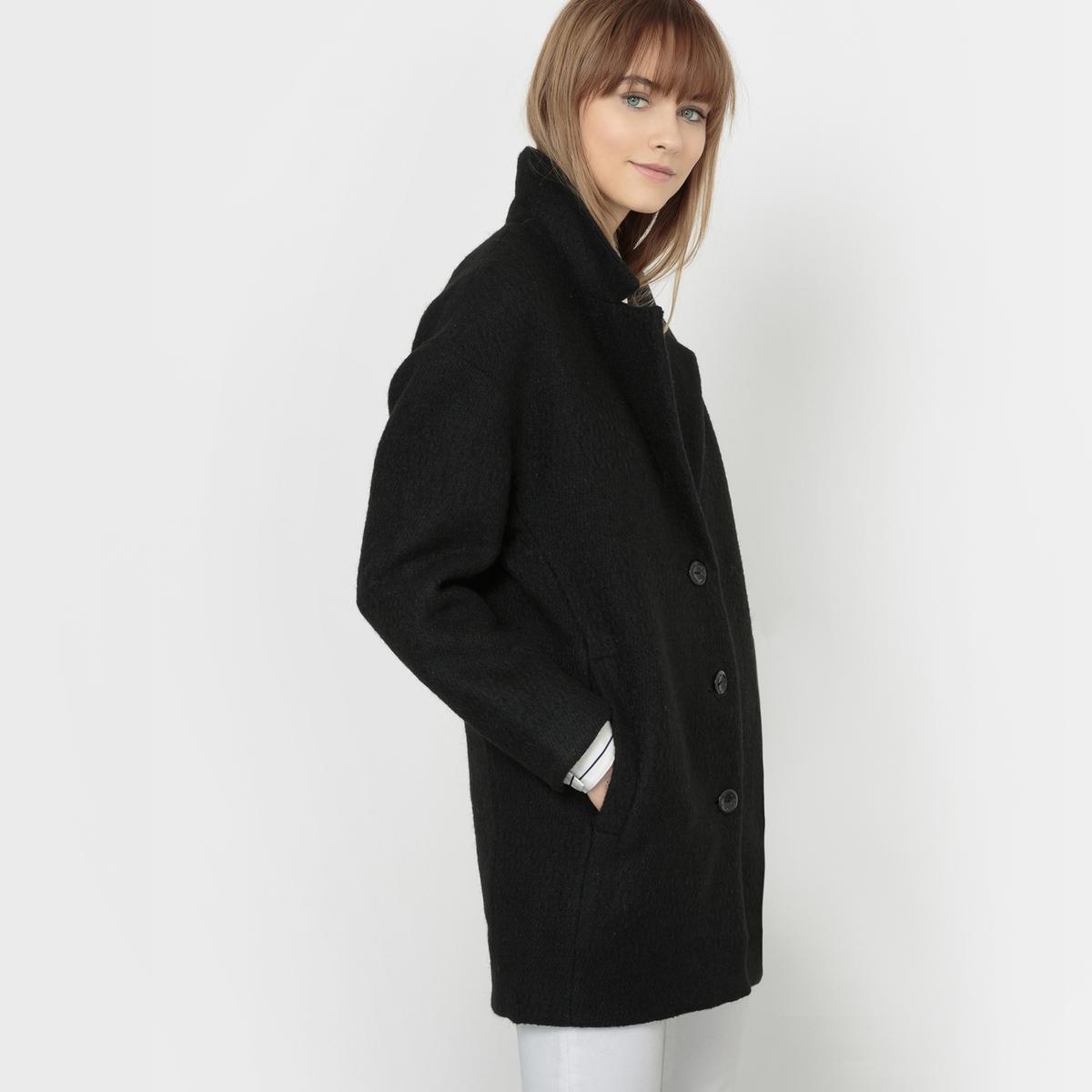 Пальто оверсайз MICKY CHECK WOOL MIXСостав и описание :Материал : 54% шерсти, 26% полиэстера, 7% хлопка, 7% акрила, 4% вискозы, 2% полиамидаМарка : FREEMAN T. PORTER<br><br>Цвет: черный