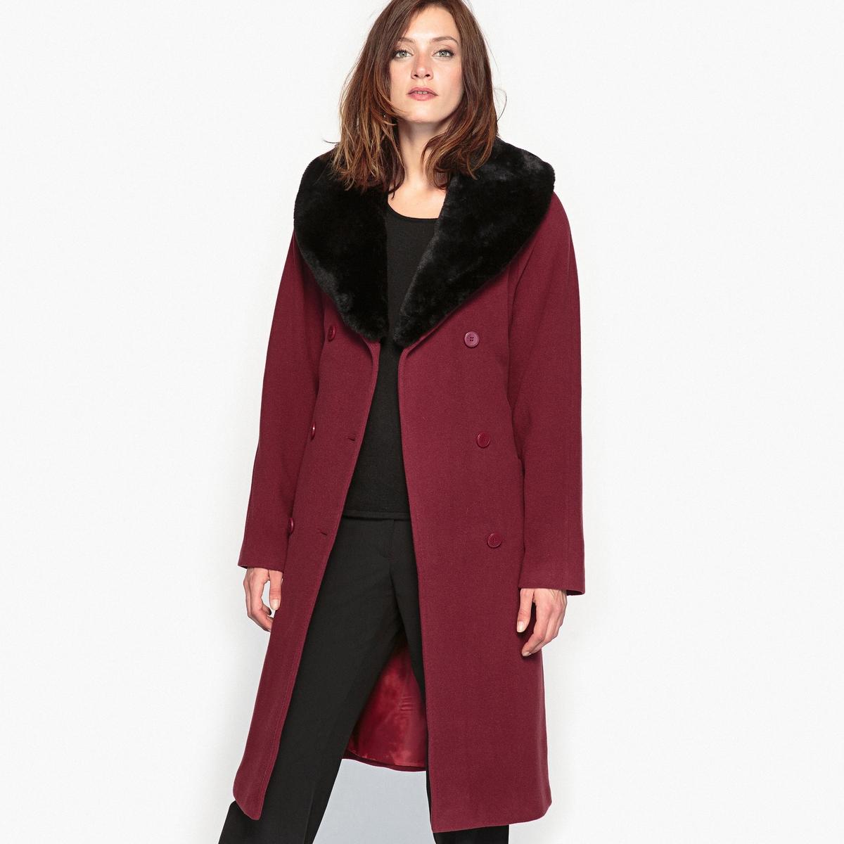 Пальто из шерсти и кашемира, длина 100 см пальто из шерстяного драпа 70