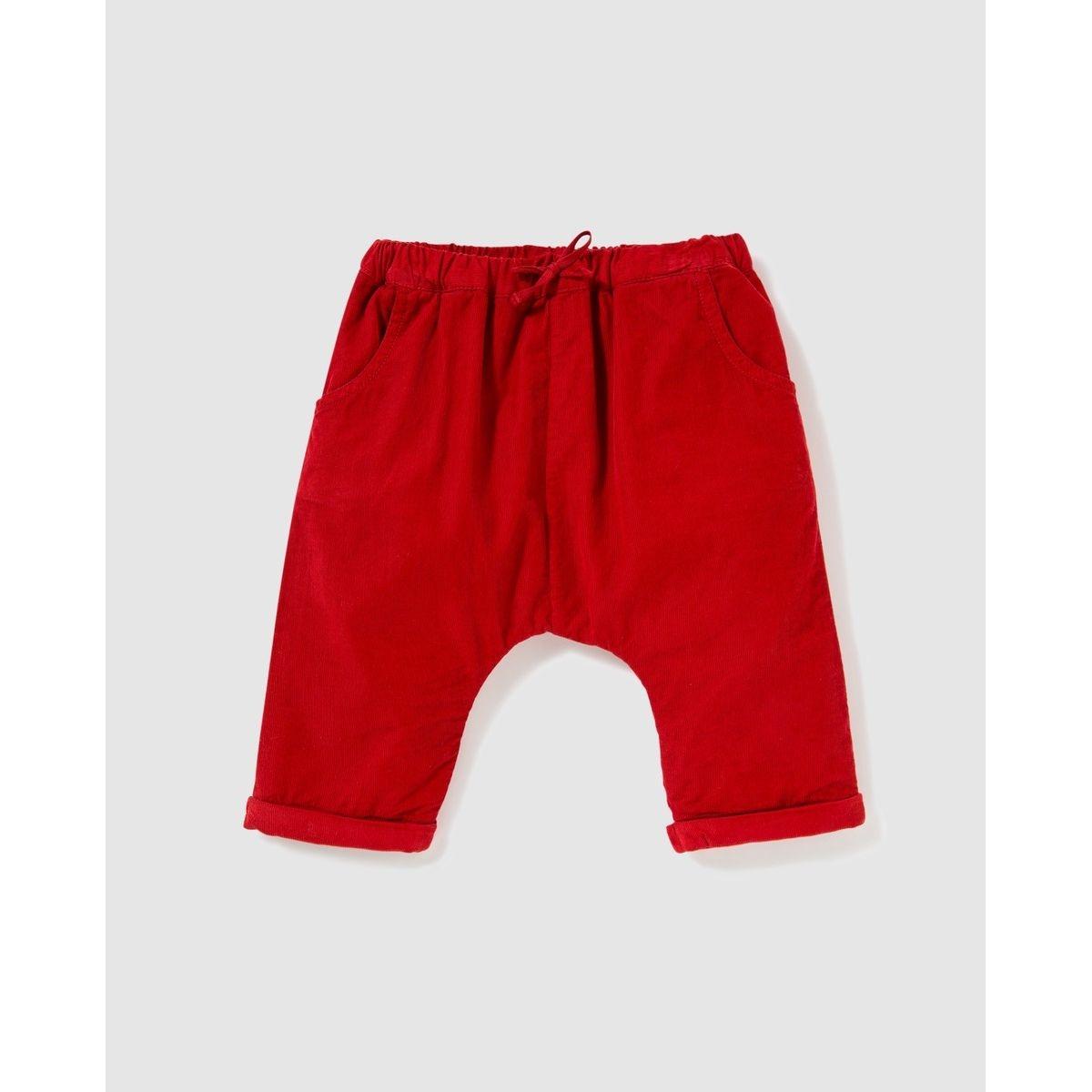 Pantalon  en micro côtelé fin