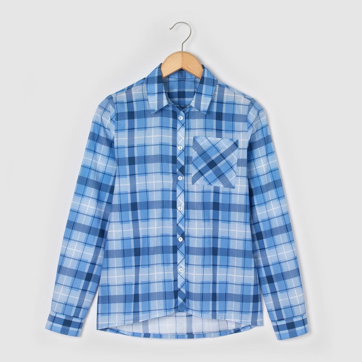 Рубашка в клетку, 10-16 лет от La Redoute