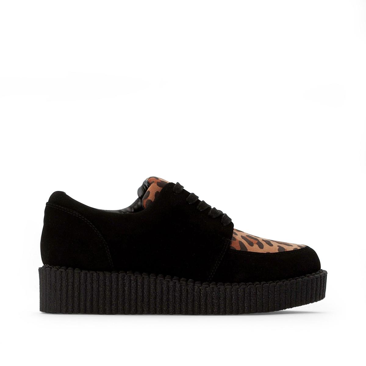 цена Ботинки-дерби La Redoute Двухцветные на шнуровке 36 другие онлайн в 2017 году