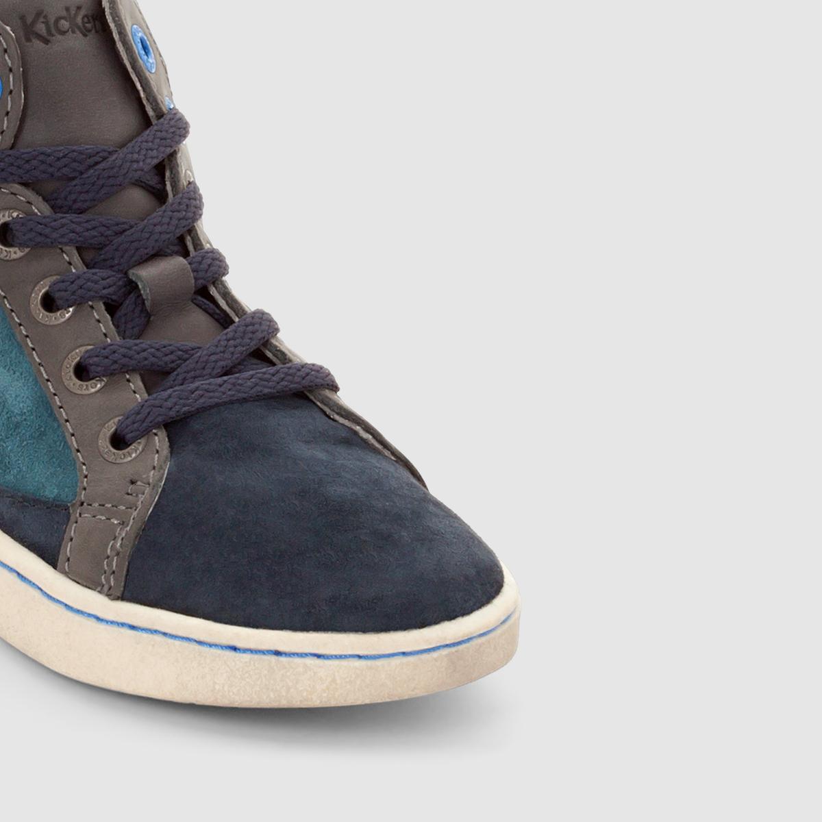 Ботильоны кожаные LynxВерх/ Голенище: кожа  Подкладка: кожа  Стелька: кожа  Подошва: каучук  Высота каблука : без каблука  Мысок: закругленный  Застежка: шнуровка<br><br>Цвет: темно-синий