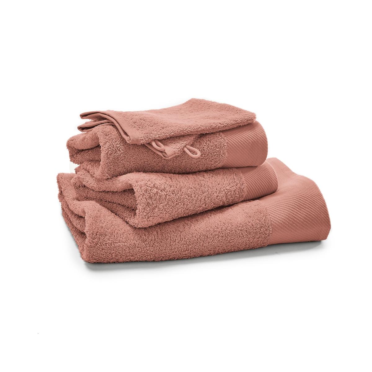 Комплект из однотонных банных La Redoute Принадлежностей из махровой ткани гм SCENARIO единый размер розовый полотенце la redoute для рук из махровой ткани хлопок с люверсом единый размер бежевый