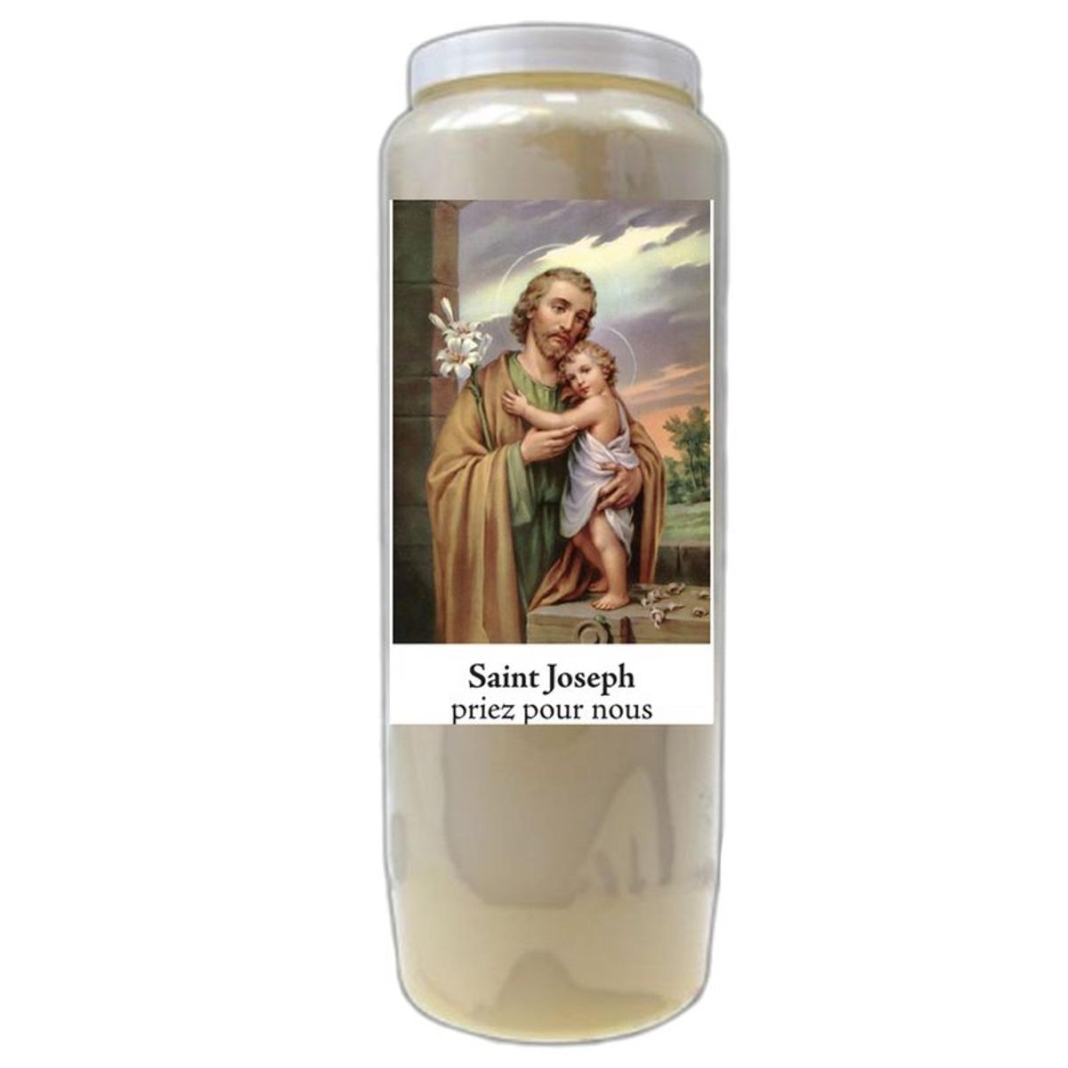 Bougie de prières Saint Joseph - Neuvaine