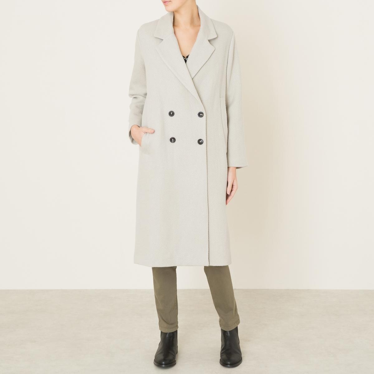Пальто длинное женскоеСостав и описание    Материал : 60% льна, 40% вискозы   Подкладка    : 100% хлопок    Марка : POMANDERE<br><br>Цвет: экрю