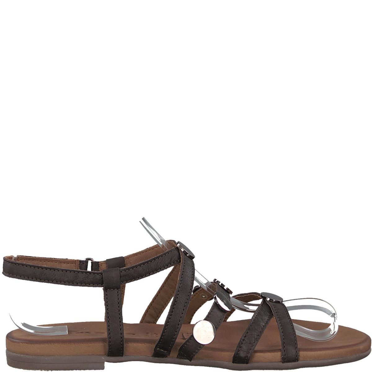 Сандалии кожаные 28138-38Верх : кожа   Подкладка : кожа  Стелька : кожа   Подошва : синтетика   Высота каблука : 1,5 см   Форма каблука : плоский каблук   Мысок : закругленный мысок   Застежка : планка-велкро<br><br>Цвет: мокко<br>Размер: 40