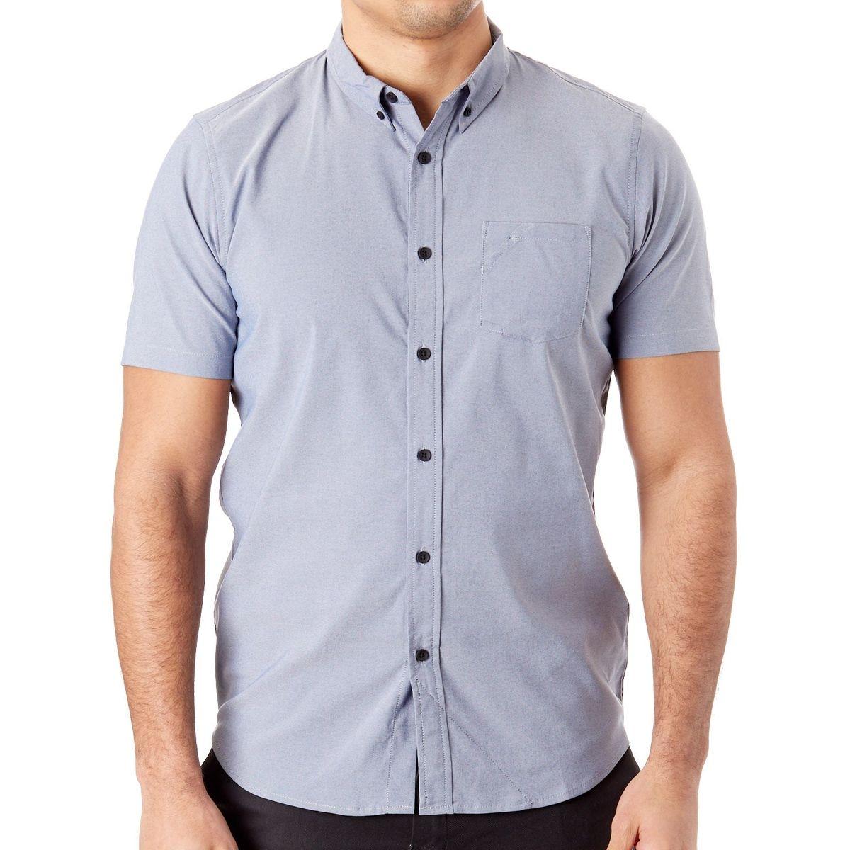 Chemise à manches courtes Solid Woven