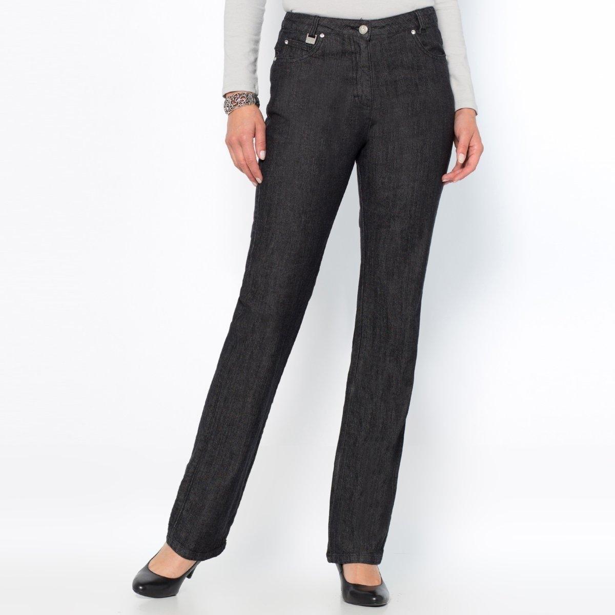 Джинсы из стретч денима, длина по внутр. шву 78 смКлассические джинсы: настоящие пятикарманные, сзади украшены стразами. Талия слегка занижена. Пуговица из металла, украшена стразами, застежка на молнию спереди. Сзади: карманы со строчкой из страз, на одном инициалы AW на поясе нашивка имитация кожи. Длина по внутр. шву 78 см, при росте менее 1,65 м.Состав и описание:Материал: Деним стретч: 99% хлопка, 1% эластана LYCRA®.Длина по внутр.шву: 78 см, ширина по низу: 20 см.Марка: Anne Weyburn.Уход:Машинная стирка при 30 °C на умеренном режиме, с изнанки.Гладить при средней температуре, с изнанки.<br><br>Цвет: синий потертый,темно-синий,черный<br>Размер: 40 (FR) - 46 (RUS).50 (FR) - 56 (RUS).44 (FR) - 50 (RUS).40 (FR) - 46 (RUS).42 (FR) - 48 (RUS).44 (FR) - 50 (RUS).40 (FR) - 46 (RUS)