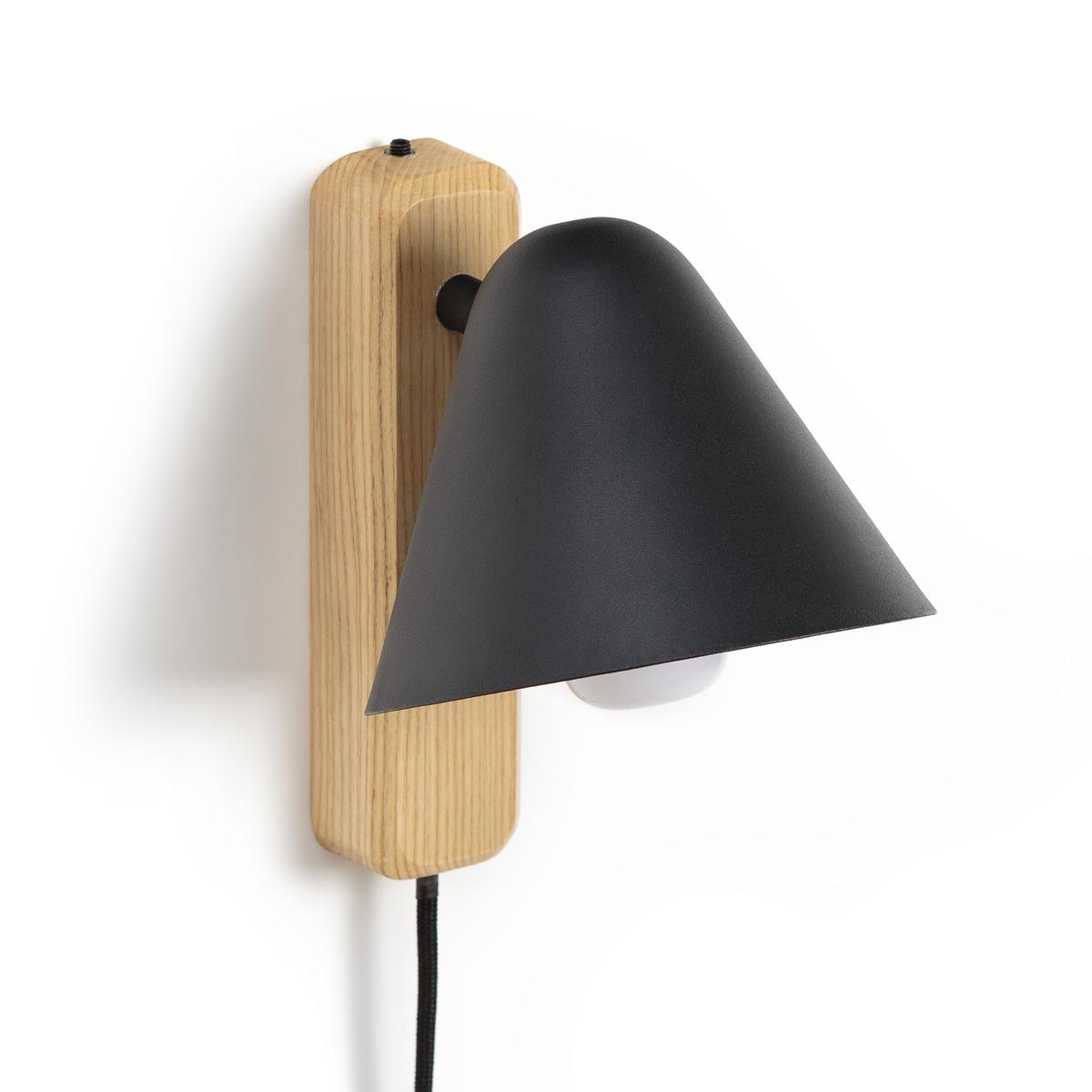 Бра La Redoute Из дерева и металла Cotapi единый размер черный