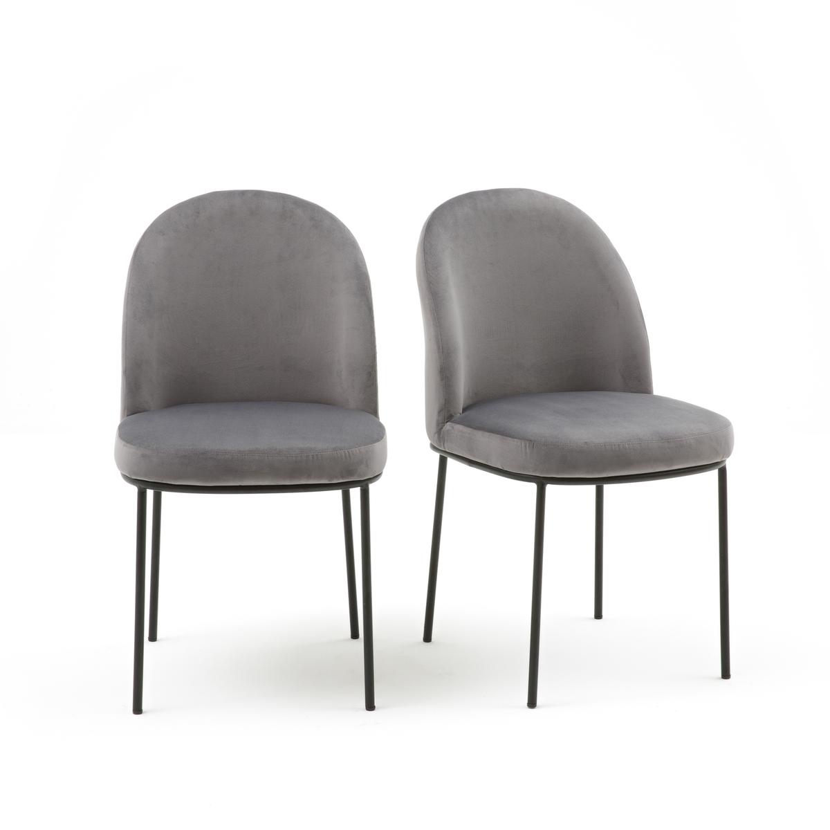Комплект из 2 велюровых стульев TOPIM