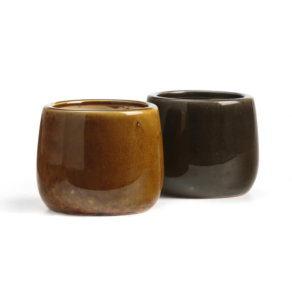Кашпо La Redoute x В см Ivy единый размер каштановый кувшин la redoute из керамики sanna единый размер каштановый