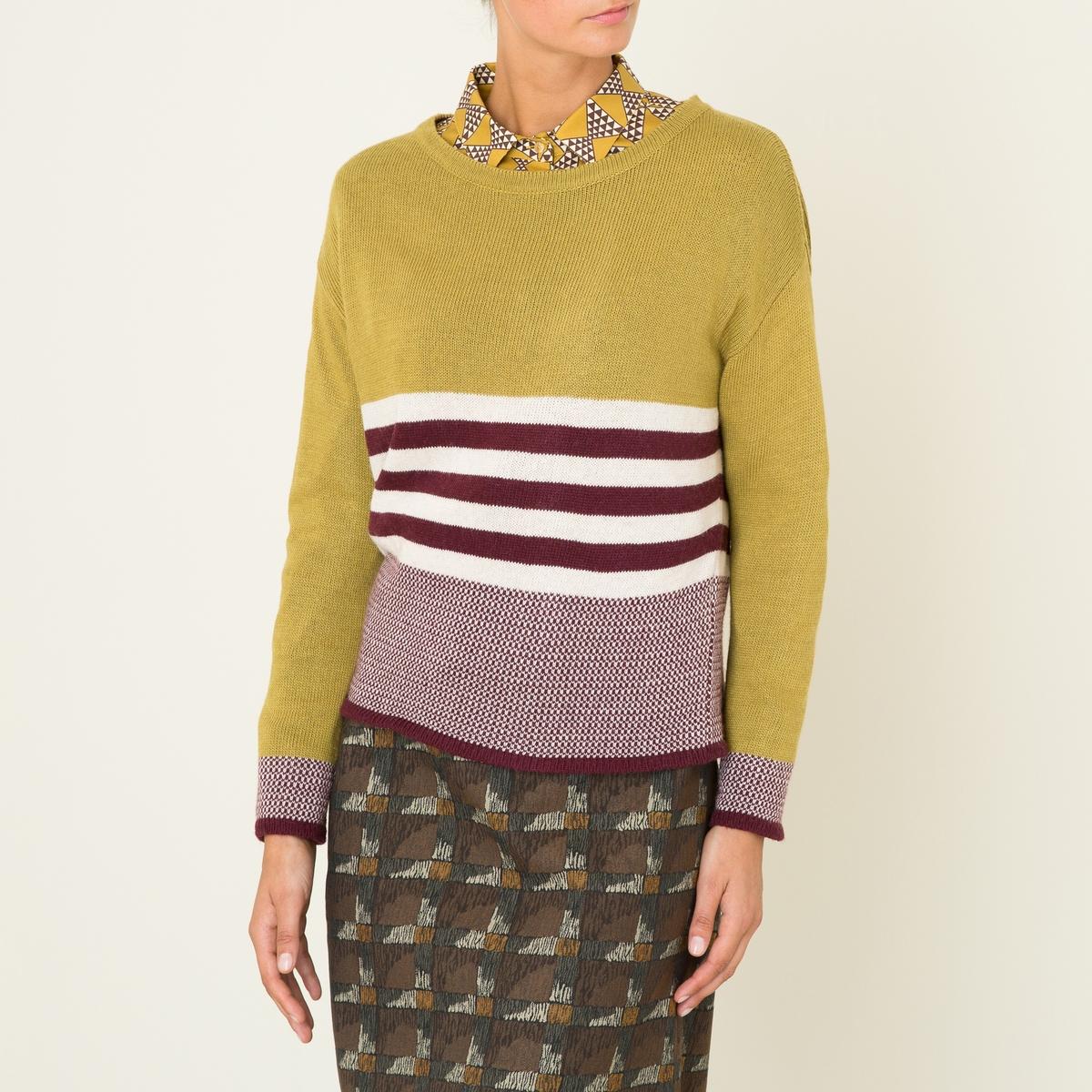 Пуловер короткийСостав и описание Материал : 50% вискозы, 45% полиэстера, 5% шерстиМарка : NIU<br><br>Цвет: горчичный