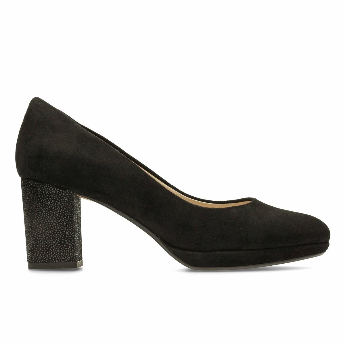 Туфли замшевые Kelda HopeВерх : замшаПодкладка : синтетика   Стелька : Кожа.   Подошва : Каучук   Высота каблука : 7 см   Форма каблука : квадратный.   Мысок : закругленный   Застежка : Без застежки<br><br>Цвет: розовый,черный<br>Размер: 40.37
