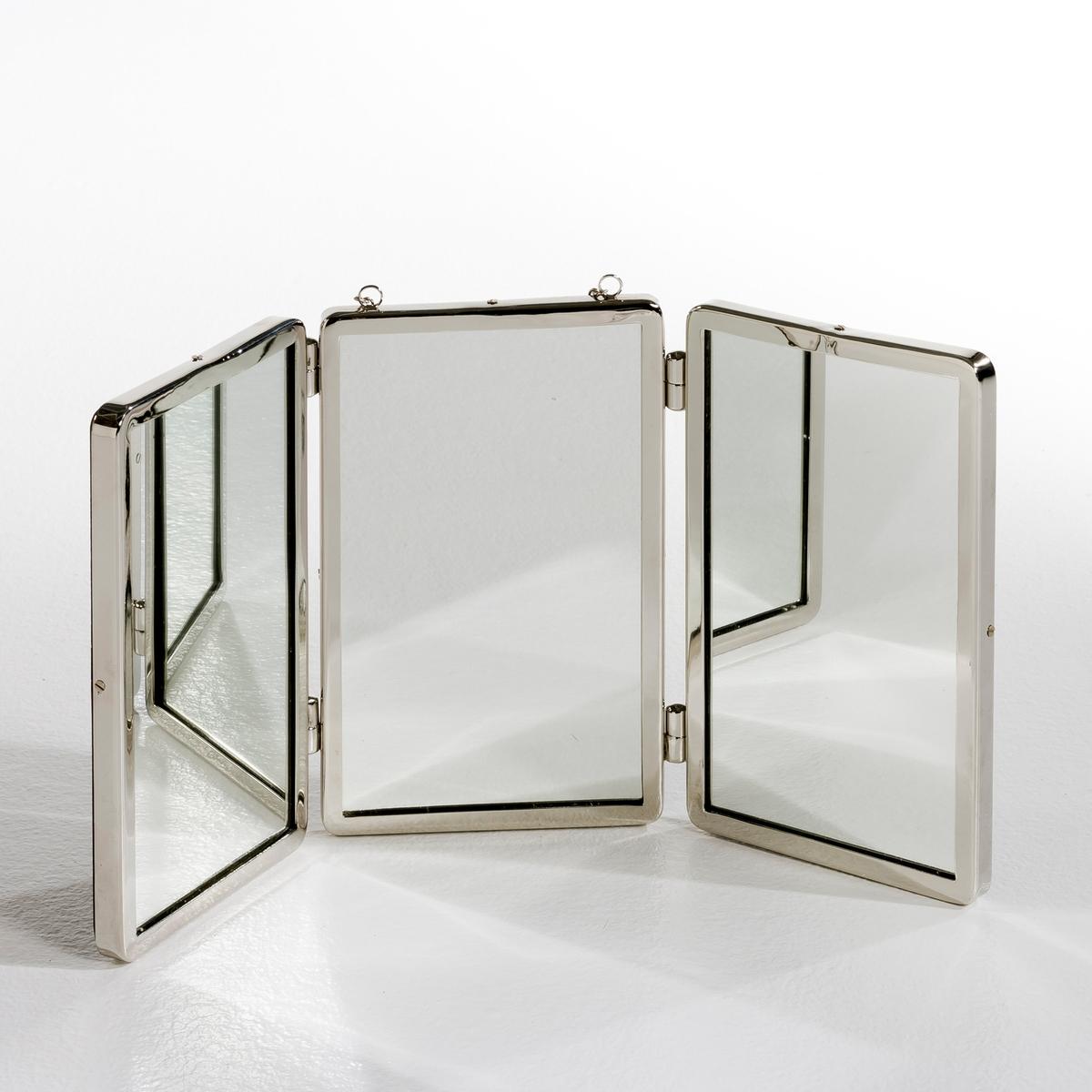 Зеркало маленькая модель Д55 x В27 см, BarbierВ стиле трюмо под старину. Подвешивается на цепочке.    Характеристики: :- Рамка из никелированной латуни  .   Общие размеры зеркала : -Дл. 55 x Выс.. 27 см.<br><br>Цвет: безцветный