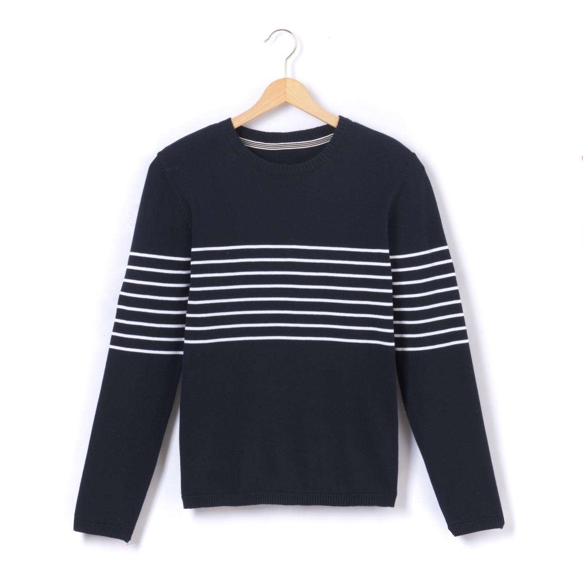 Пуловер в полоску, 10-16 лет