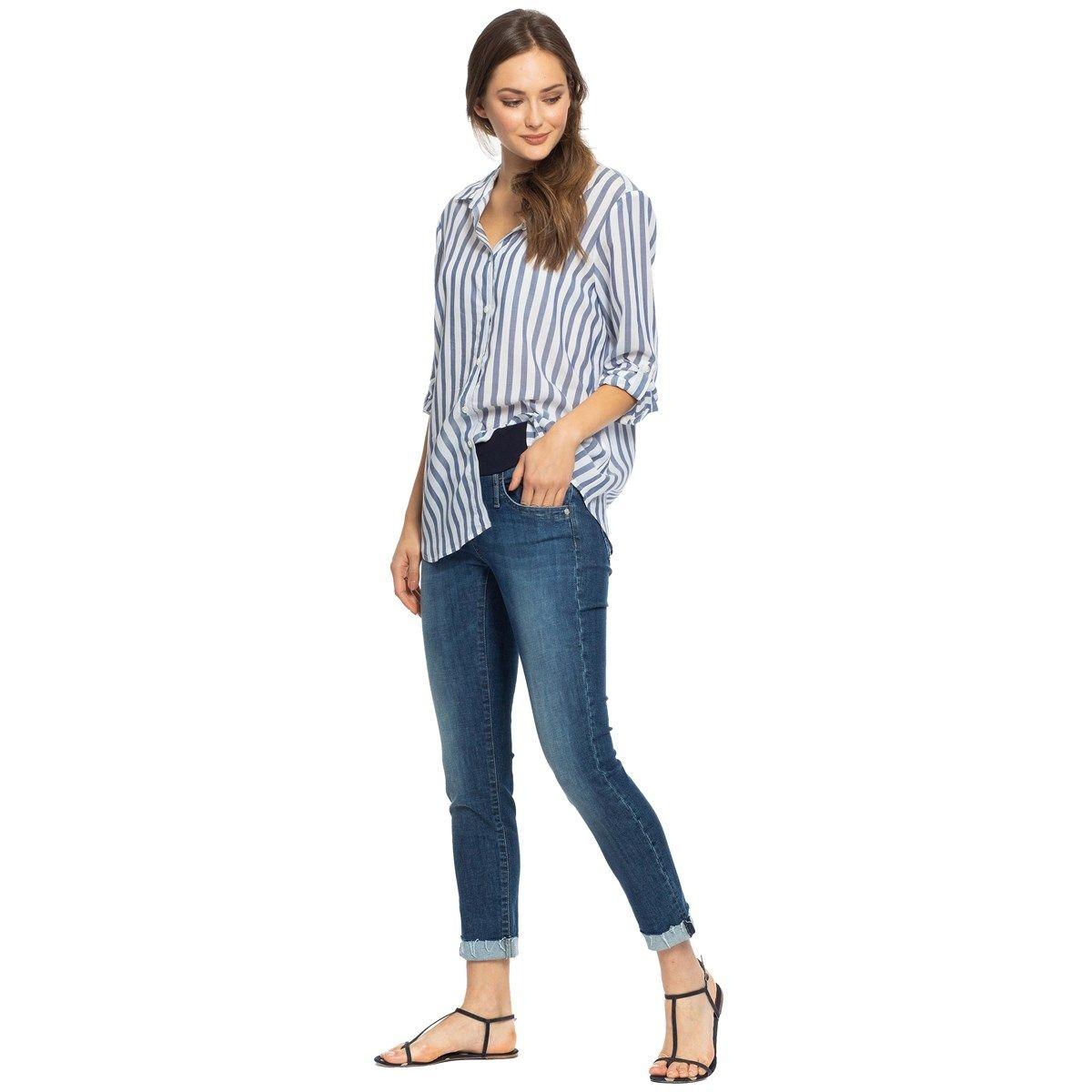 Jeans de maternité délavage moyen W665 COOL GIRL