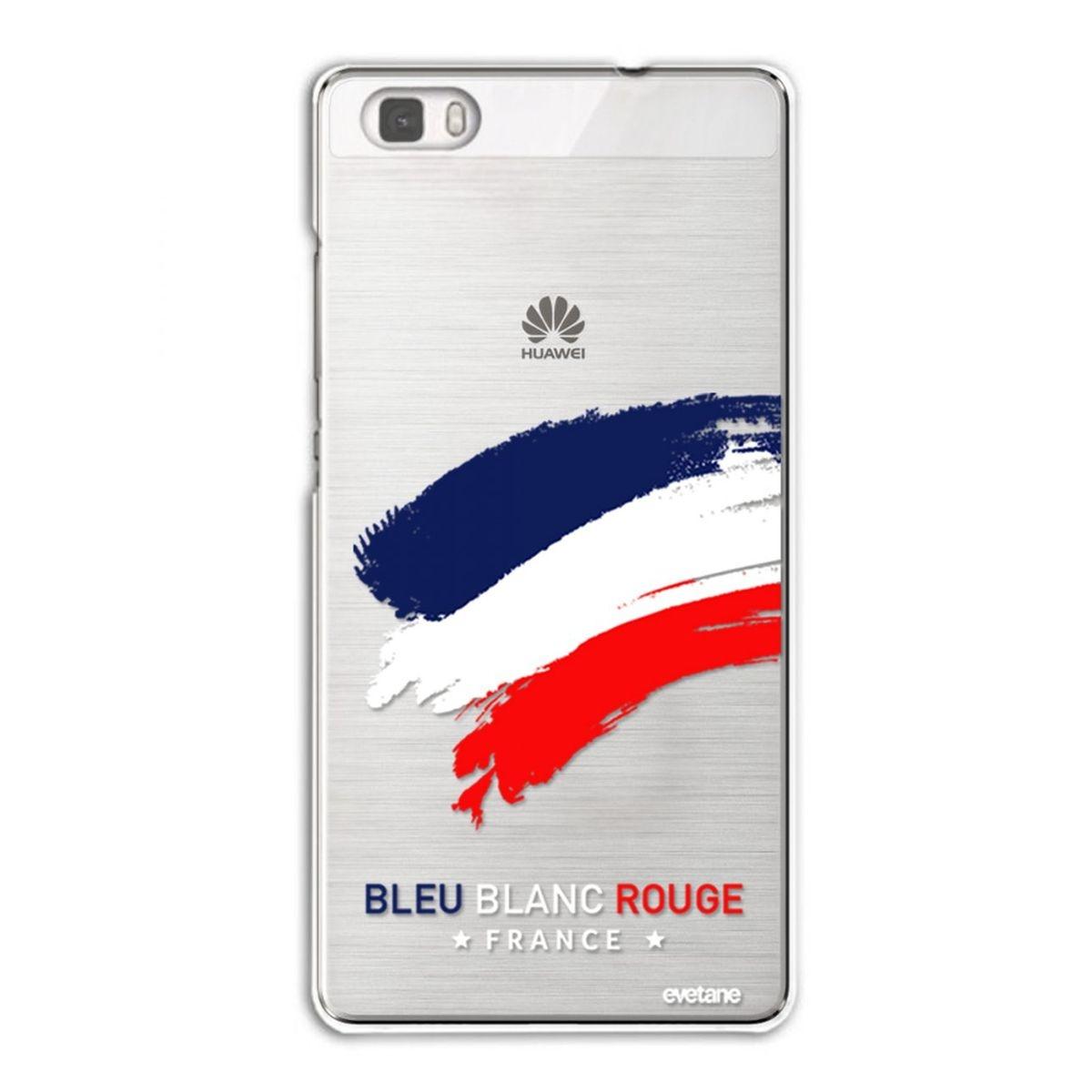 Coque Huawei P8 Lite rigide transparente, France, Evetane®