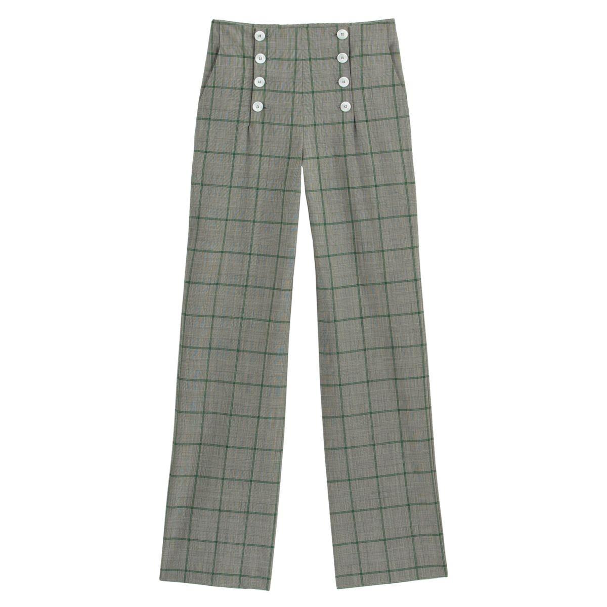Pantalon à pont en fin lainage