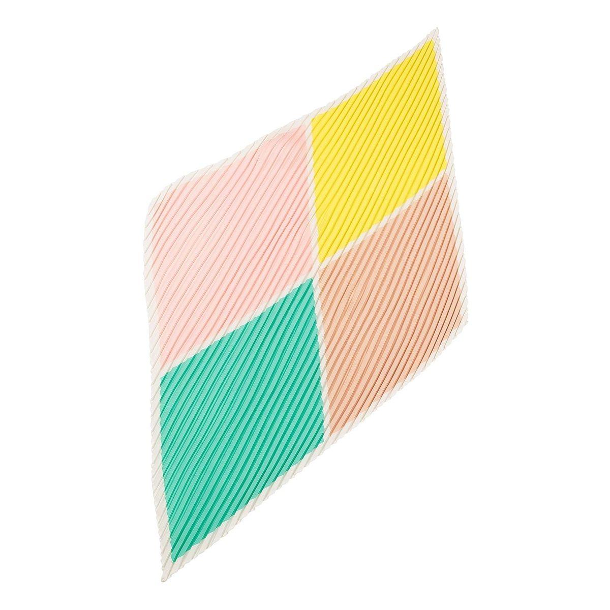 Foulard carré plissé